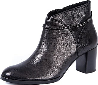 0495576983fc Högl Womens 4-106310 Smart Black Leather Ankle Boots with Block Heel HO 39 (