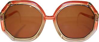 56250f7154 Ted Lapidus Pop Mod 1970s Ted Lapidus Orange   Gold Sunglasses