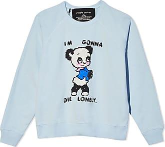 Marc Jacobs panda print slogan sweatshirt - Azul