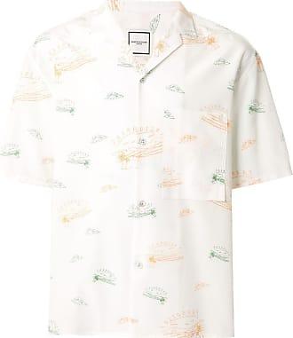 Wooyoungmi Camisa Paradise com estampa gráfica - Branco