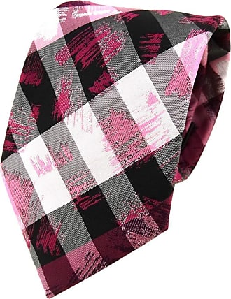 TigerTie Designer tie necktie in pink gray silver black striped - Tie necktie