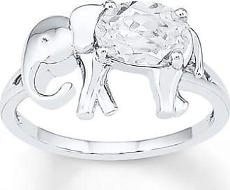 Kay Jewelers Elephant Ring Lab-Created Sapphire Sterling Silver