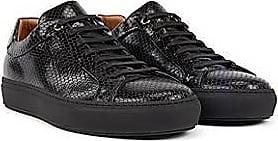 BOSS In Italien gefertigte Sneakers aus geprägtem Leder