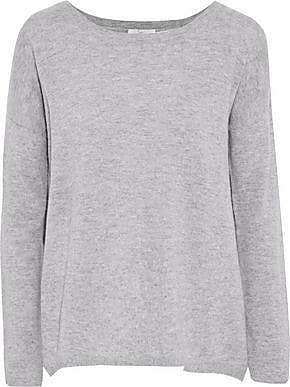 Joie Joie Woman Effie Split-back Wool And Cashmere-blend Sweater Stone Size XXS