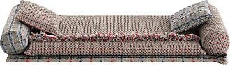 GAN Rugs Garden Layers Liegelandschaft Komposition 1 - mehrfarbig/2x Small Kissen 45x45/Handwebstuhl/1x Teppich 90x200/2x Small Roll Kissen 78x25x25/1x