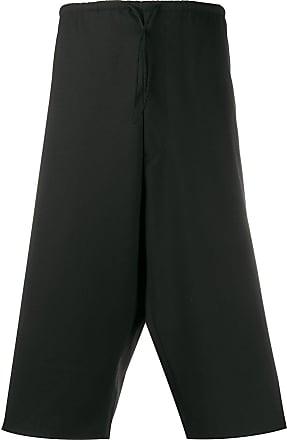 Yohji Yamamoto dropped-crotch shorts - Black