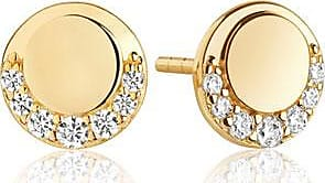 Sif Jakobs Jewellery Earrings Portofino Piccolo - 18k gold plated with white zirconia
