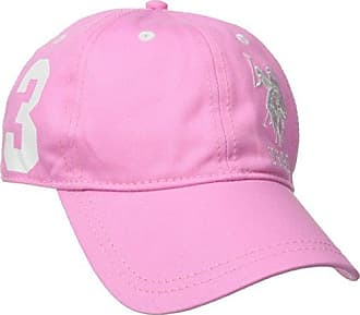 U.S.Polo Association Womens Number Three Baseball Hat, Pink, One Size