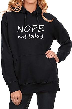 Dresswel Nope NOT Today Hoodies Women Sweatshirt Long Sleeve Tops Jumper Hooded Pullover Blouse Black