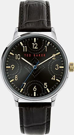 Ted Baker Leather Croc Strap Watch in Black COSCROB, Mens Accessories