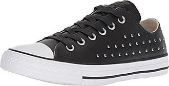 Converse Womens CTAS OX Black/Silver Sneaker, 5.5 M US