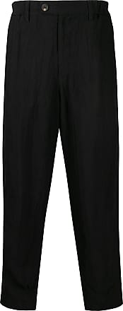 Ziggy Chen creased loose-fit trousers - Black