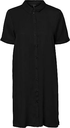Vero Moda Womens Vmchloe Ss Tunic Dress Ga Noos Casual, Black, X-Large