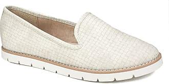 White Mountain Womens Denny Loafer Flat, Cream, 6 UK
