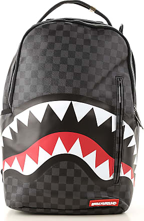 Sprayground Backpack for Men, Black, Coated Canvas, 2017, one size