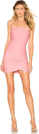 Superdown Chrys Strapless Mini Dress in Pink