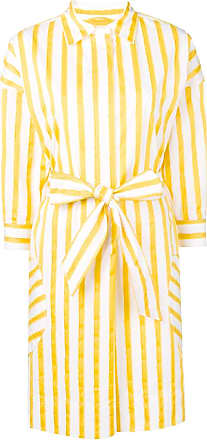 Sara Roka striped shirt dress - Yellow
