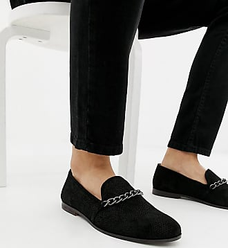 aac1aba9959 House Of Hounds House Of Hounds Wide Fit Styx loafers in black brocade -  Black