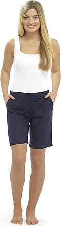 Tom Franks LADIES / WOMENS CASUAL LINEN COOL SHORTS, PERFECT FOR HOLIDAYS / SUMMER / BEACH (16, Navy (4 pockets))