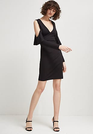 French Connection Beau Viscose Jersey Cold-Shoulder Dress