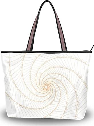 Lorona Women Spire Pattern Orange Design Canvas Shoulder Hand Bag Large Capacity Tote Bag