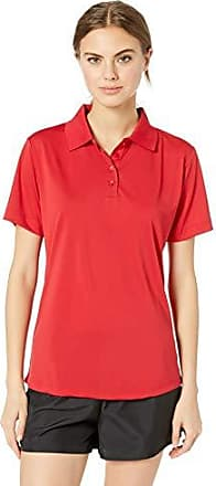 Black Heather L Clementine Womens Whisper Pique Polo Tee