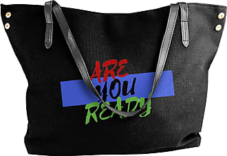 Juju Are You Ready Womens Classic Shoulder Portable Big Tote Handbag Work Canvas Bags
