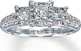 Kay Jewelers Diamond Engagement Ring 1 ct tw Princess-cut 14K White Gold
