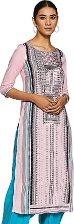 Aurelia Womens Rayon Straight Kurta (20FEA11197-501598_ Pink_ Large)