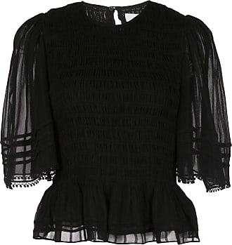 Isabel Marant Camiseta Janette com mangas translúcidas - Preto