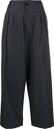 Ymc You Must Create cropped striped trousers - Blue