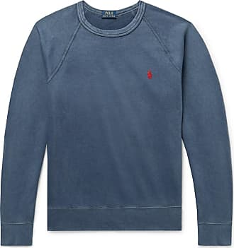 Polo Ralph Lauren Loopback Cotton-jersey Sweatshirt - Blue