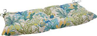 Pillow Perfect Indoor/Outdoor Splish Splash Blue Swing/Bench Cushion