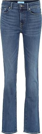7 For All Mankind B(AIR) high-rise straight jeans