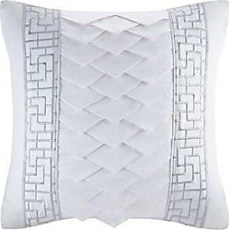 Natori Silk/Cotton Embroidery Square Pillow 18x18/Grey
