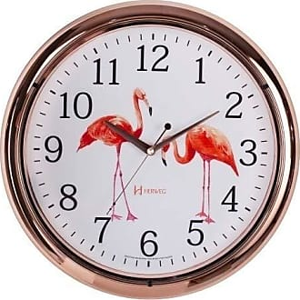 Uhren Herweg Relógio de Parede Herweg Analógico Flamingos 660047309
