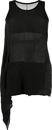 Masnada draped panel tunic - Black