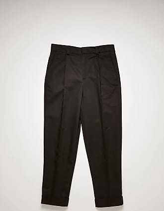 Acne Studios FN-MN-TROU000361 Black Pleated twill chinos