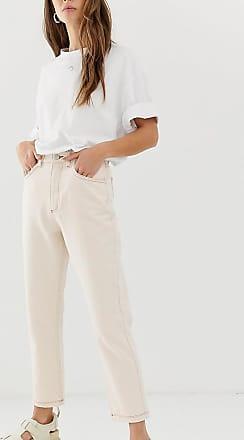 Reclaimed Vintage The 91 mom jean in ecru wash-White