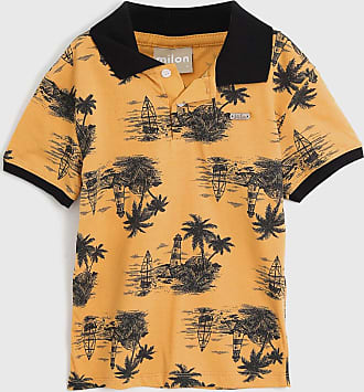 Milon Camisa Polo Milon Infantil Praia Amarela
