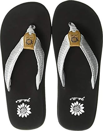 Yellow Box Womens Faraleen Wedge Sandal, Silver, 10 M US