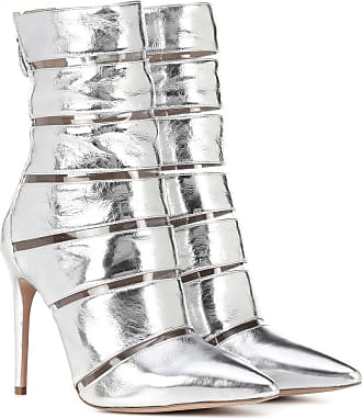 ed91d0a56b8d Alexandre Birman Sommer metallic leather ankle boots