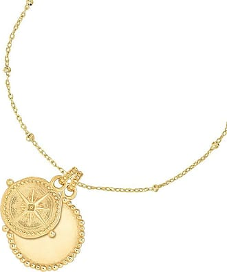 Dower & Hall Engravable Dotty Disc & True North Story Necklace