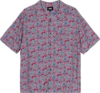 Stüssy Stussy Floral print shortsleeve shirt RED XL