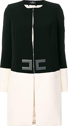 Elisabetta Franchi two-tone coat - Preto