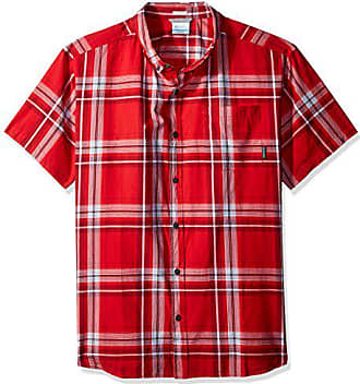 6cb565d3825 Columbia Mens Rapid Rivers Ii Short Sleeve Shirt, red Spark Large Plaid,  Small