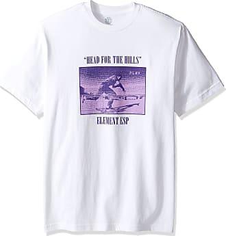 Element Mens Pause Short Sleeve T-Shirt, Optic White, Large
