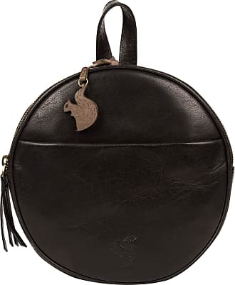 Pure Luxuries London Conkca London Hoop Womens 22cm Biodegradable Leather Compact Backpack with Unique CIrcular Design, Zip Round Top, 100% Cotton Lining and Adjustable We