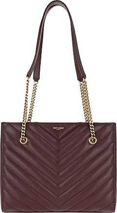 Saint Laurent Tote - Tribeca Tote Bag Leather Rouge Legion - purple - Tote for ladies
