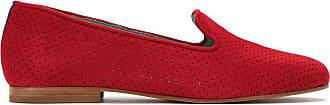 Blue Bird Shoes Loafer Saudade de camurça - Vermelho